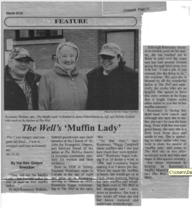 The Well - muffin lady